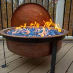6 ways to put a fire pit on a wooden deck