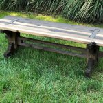 60 inch rustic garden bench japanese joinery inspired artisan rustic collection