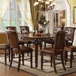 60080 acme winfred counter height dining set cherry finish