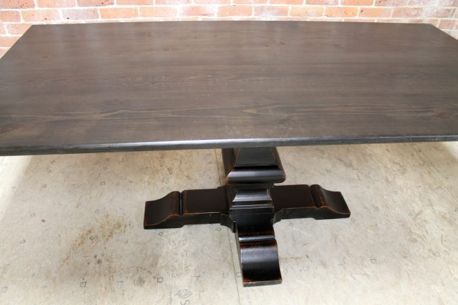 60inch square oak table with venetian pedestal ecustomfinishes