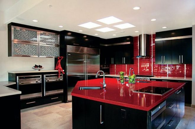 64 amazing black and red kitchen decor ideas suitable for you who