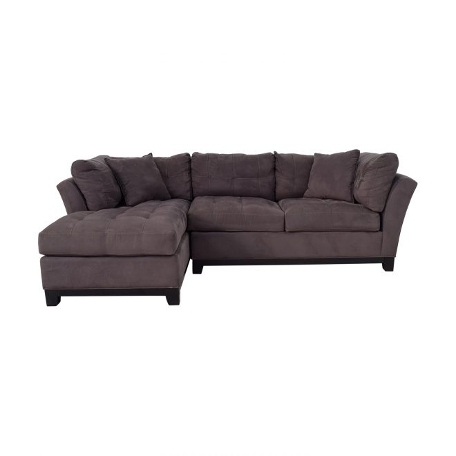 64 off raymour flanigan raymour flanigan cindy crawford home metropolis 2 piece microfiber sectional sofas