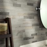 65 x 24 wood peel stick mosaic tile in weathered barn