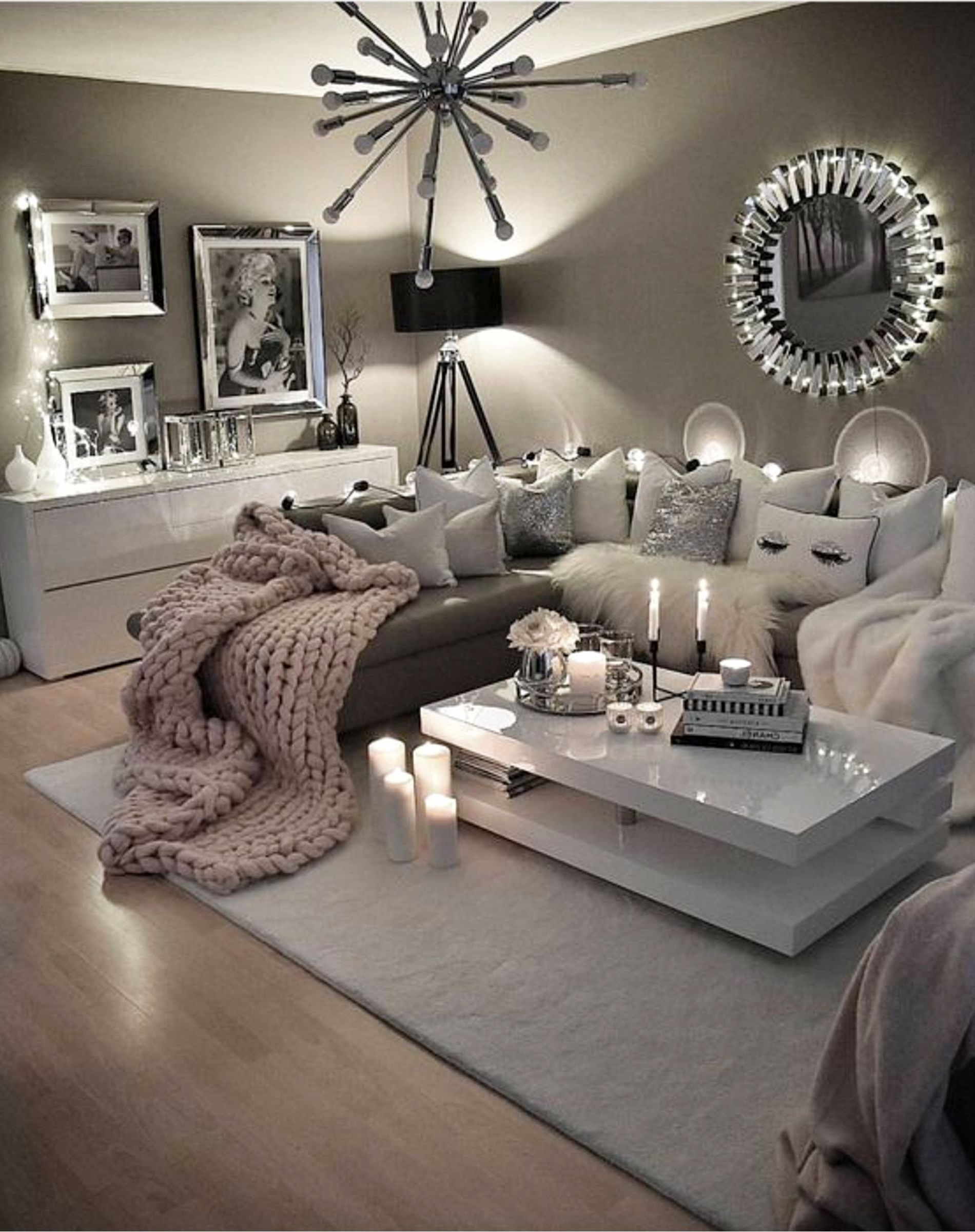 Cozy Neutral Living Room Ideas - Earthy Gray Living Rooms ...