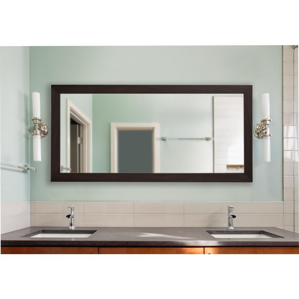 70 in x 35 in extra large black walnut vanity mirror dv068m the