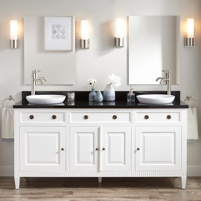 72 hawkins mahogany double vanity for semi recessed sink white