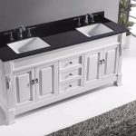 72 huntshire double bathroom vanity in white with black galaxy