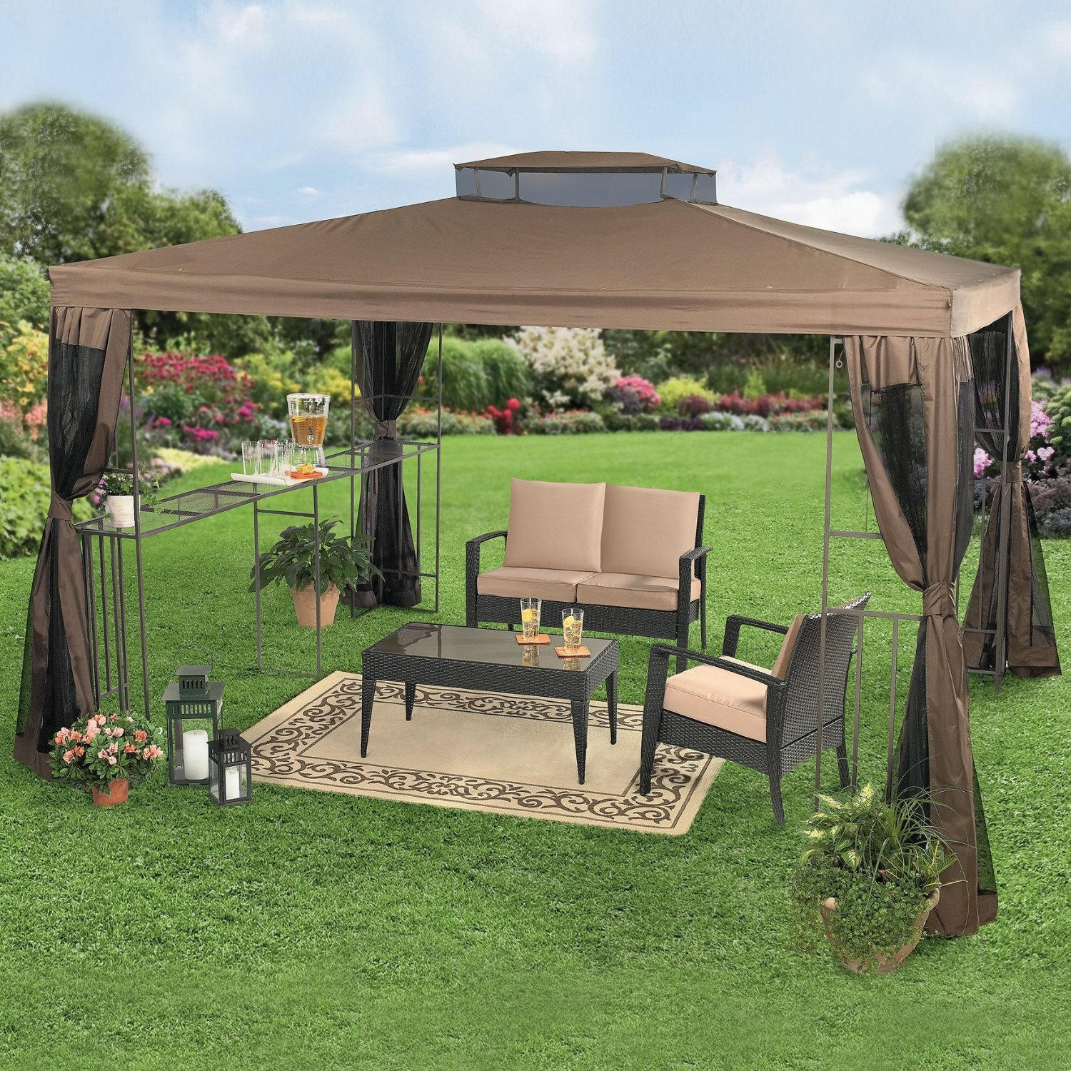 78 12x12 metal gazebo yardistry 12039 x 12039 wood