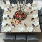 8 seat square dining table foter intended for 12 seater