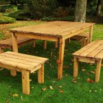 8 seater outdoor wooden garden table bench dining set solid wood patio decking furniture