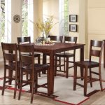 8203 7 piece counter height dining set with square table holland house at great american home store