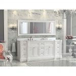84 inch white finish double sink bathroom vanity cabinet luxury