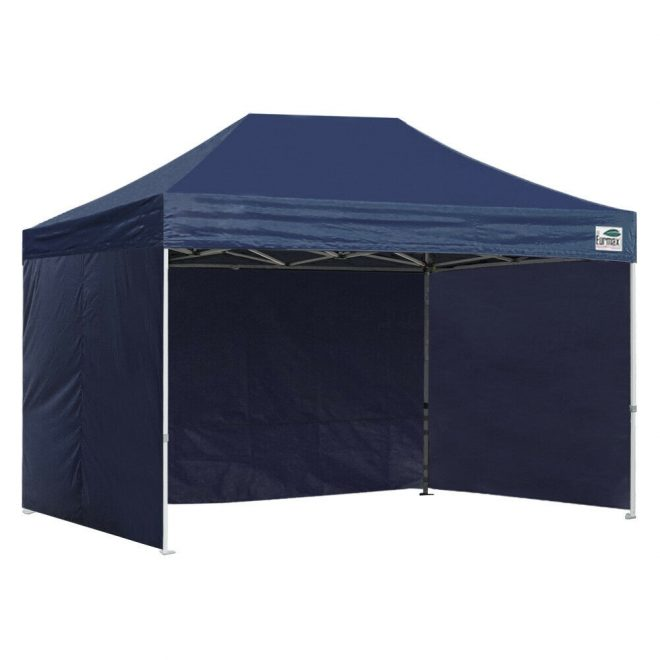 8x12 navy blue outdoor ez pop up canopy party marquee beach tent 4 side walls