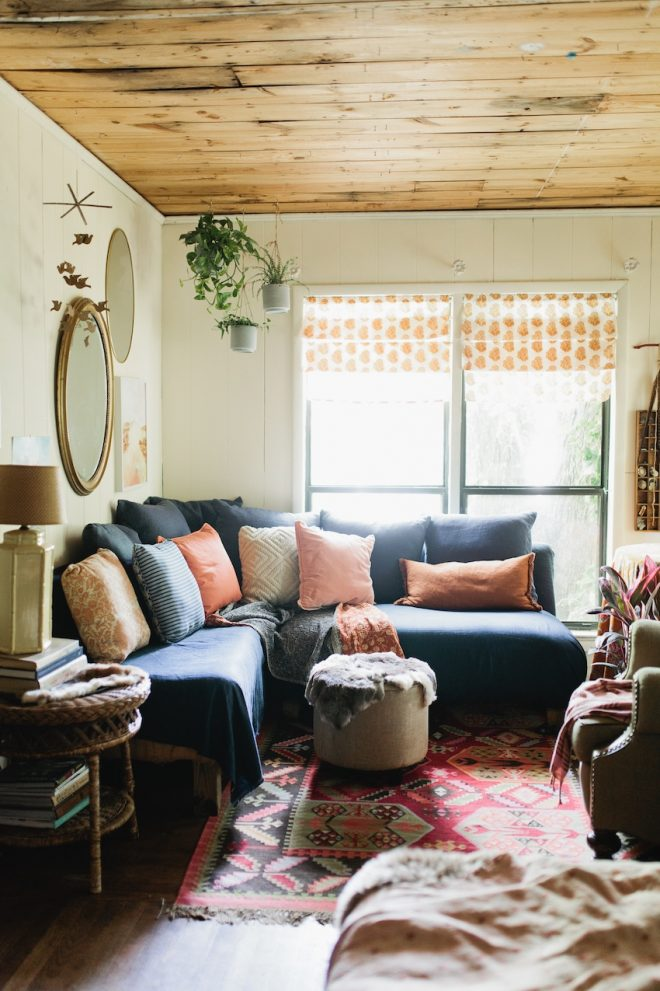 a creative texas home with soft textures and vintage charm
