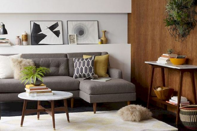 a guide to how to get a mid century modern living room