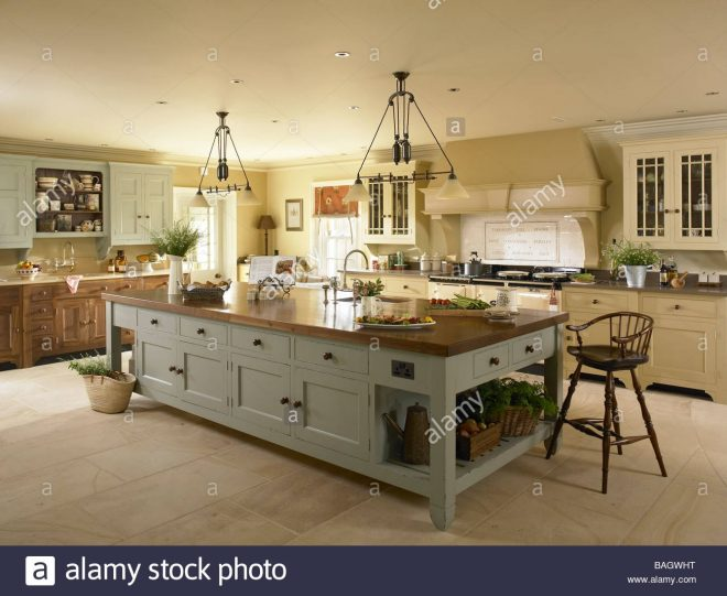 a large kitchen island unit stock photo 23728260 alamy