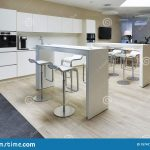 a modern office floor there is a beautiful office kitchen