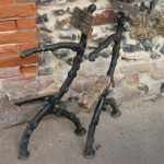 a pair of victorian cast iron bench ends clare auction