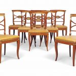 a set of eight italian cherry wood dining chairs mid 19th