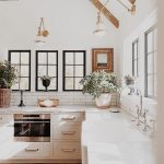 a touch of rustic charm in this modern kitchen design