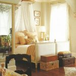 a twentieth century swedish country bed is tucked into a