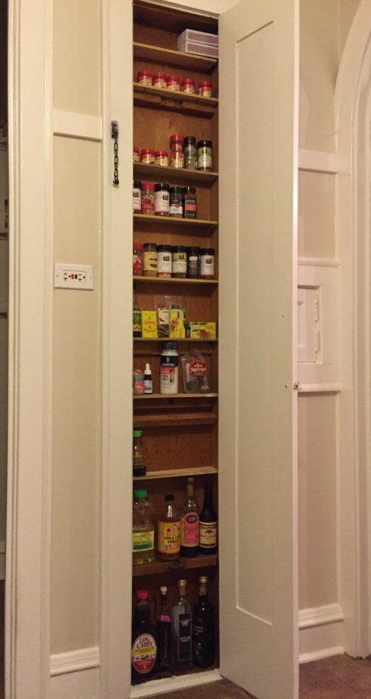 a very shallow between the studs built in spice cabinet home