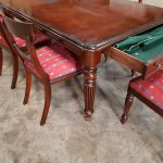 a victorian style mahogany dining suite