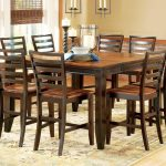 abaco 54 square solid acacia wood top counter height leg table star at efo furniture outlet