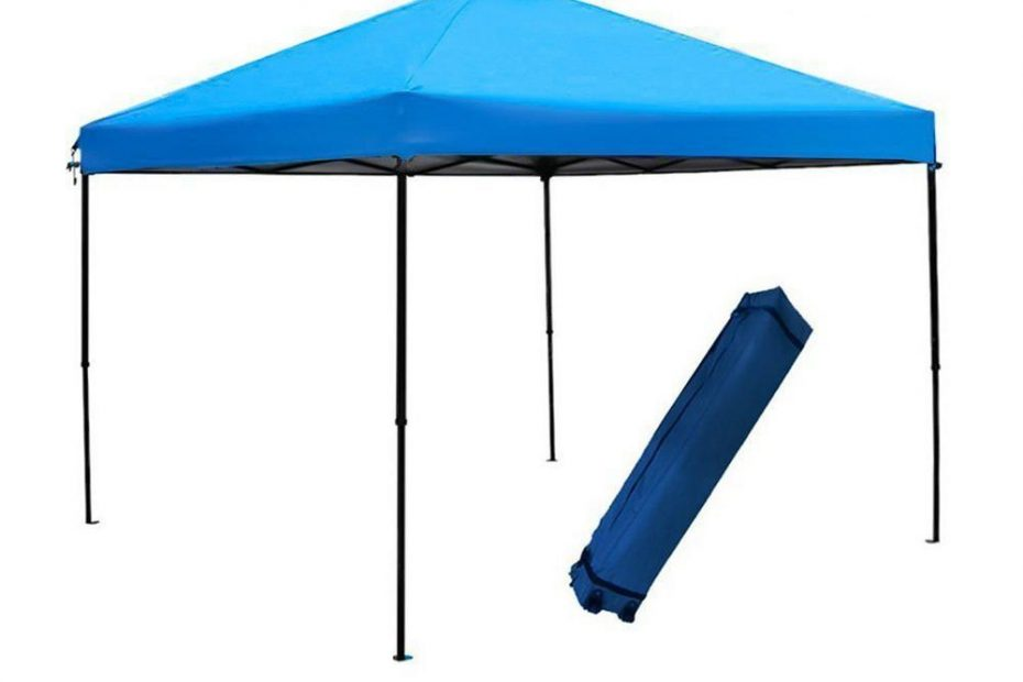 abba patio 10 ft x 10 ft blue pop up outdoor canopy tent