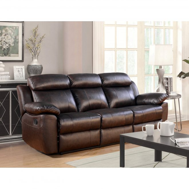 abson braylen top grain leather reclining sofa