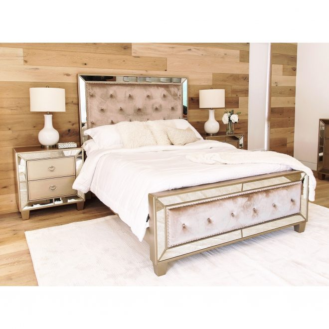 abson chateau mirrored tufted 3 piece bedroom set products
