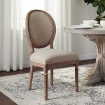 abson french vintage linen round back dining chair