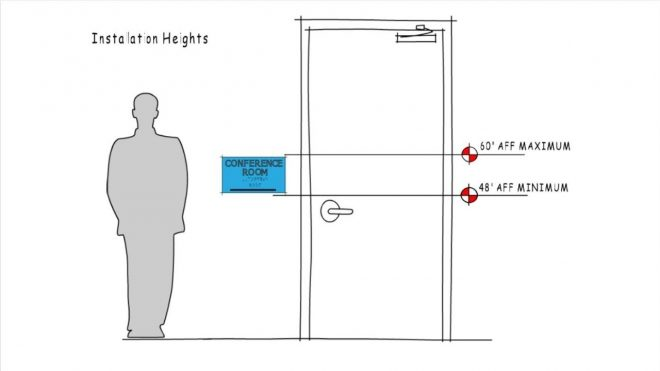 ac 009 ada requirements for signage installation youtube