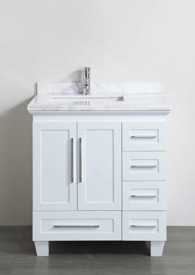 accanto contemporary 30 inch white finish bathroom vanity marble