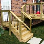 acq pressure treat pine wood deck steps with deckorators