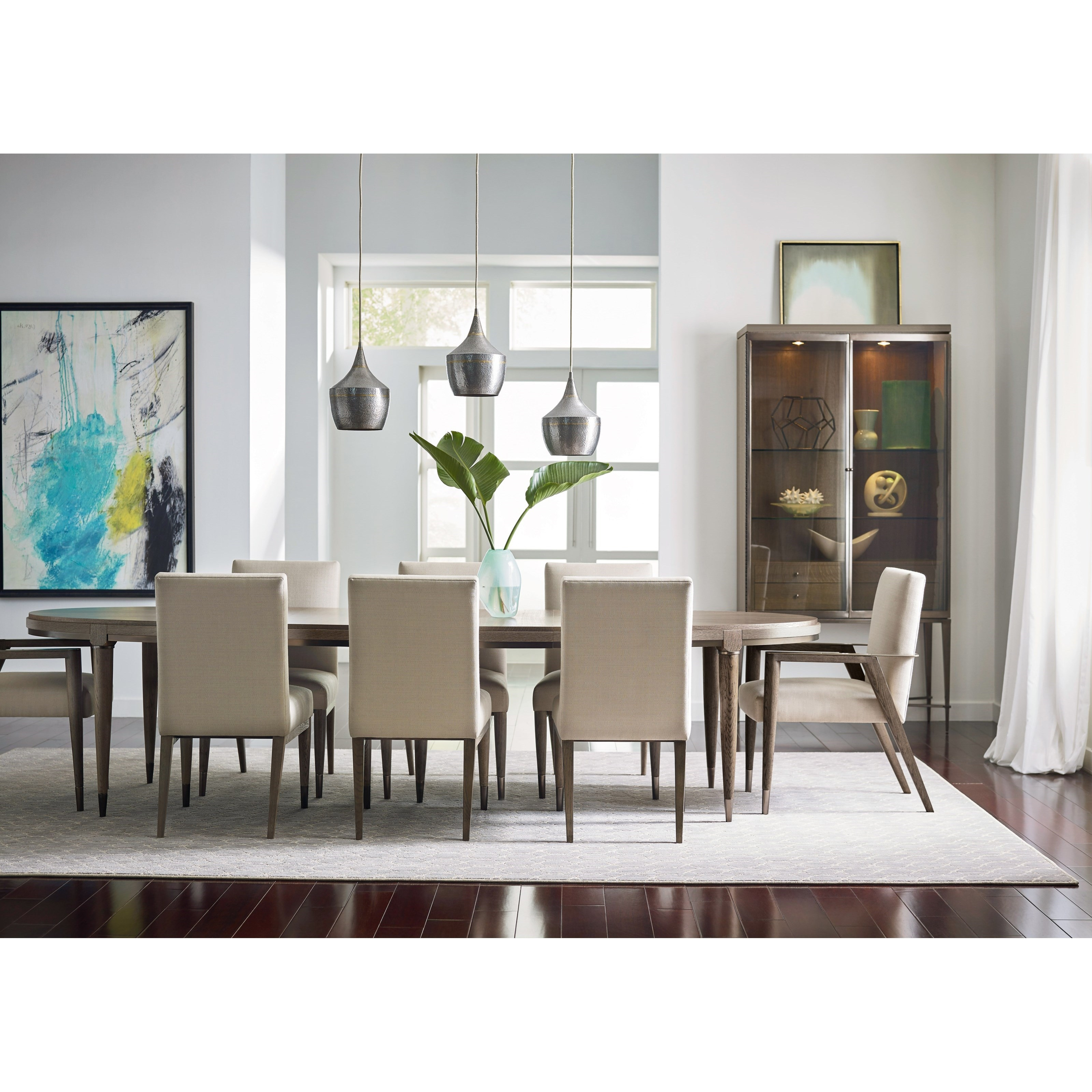 ad modern classics mid century modern formal dining room group american drew at lindys furniture company