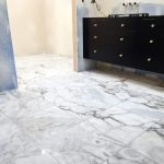 adding marble flooring to the master bathroom chris loves