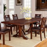 adirondack trestle dining table with two leaves warehouse m at pilgrim furniture city