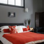 adorable red bedroom decorating ideas on gray bedroom color pairing