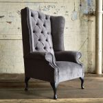 aldwick velvet chesterfield wing chair for the home wing