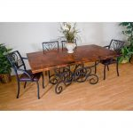 alexander wrought iron dining table and arm chairs