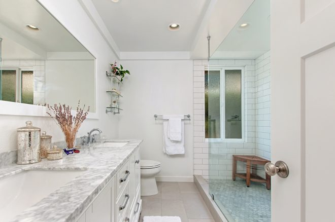all white master bathroom remodel classic home improvements
