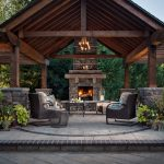 amazing rustic outdoor fireplace design ideas 587 decoor
