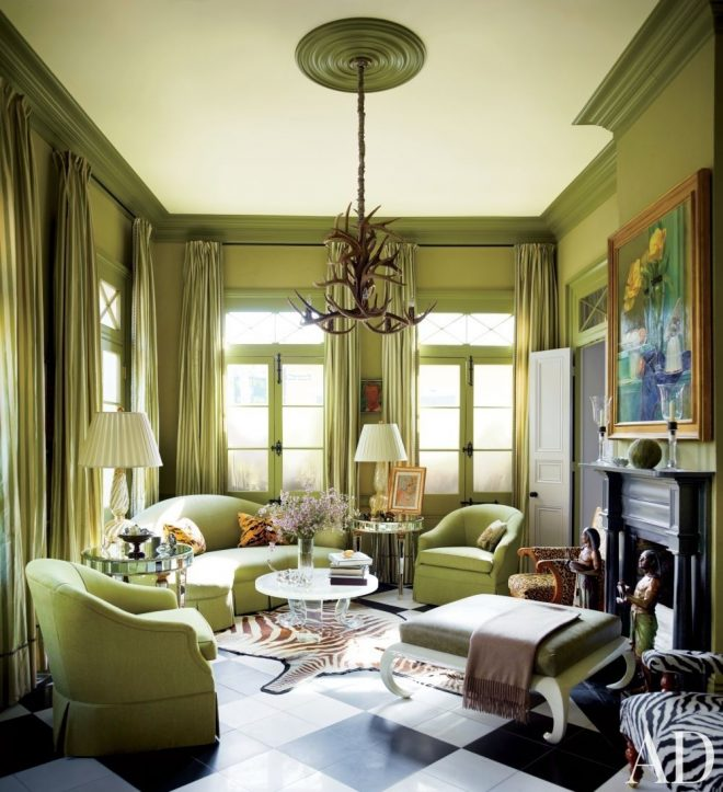 amazing use of greentraditional living room in new orleans