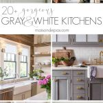 amazing white and gray kitchen designs photos images cabinet