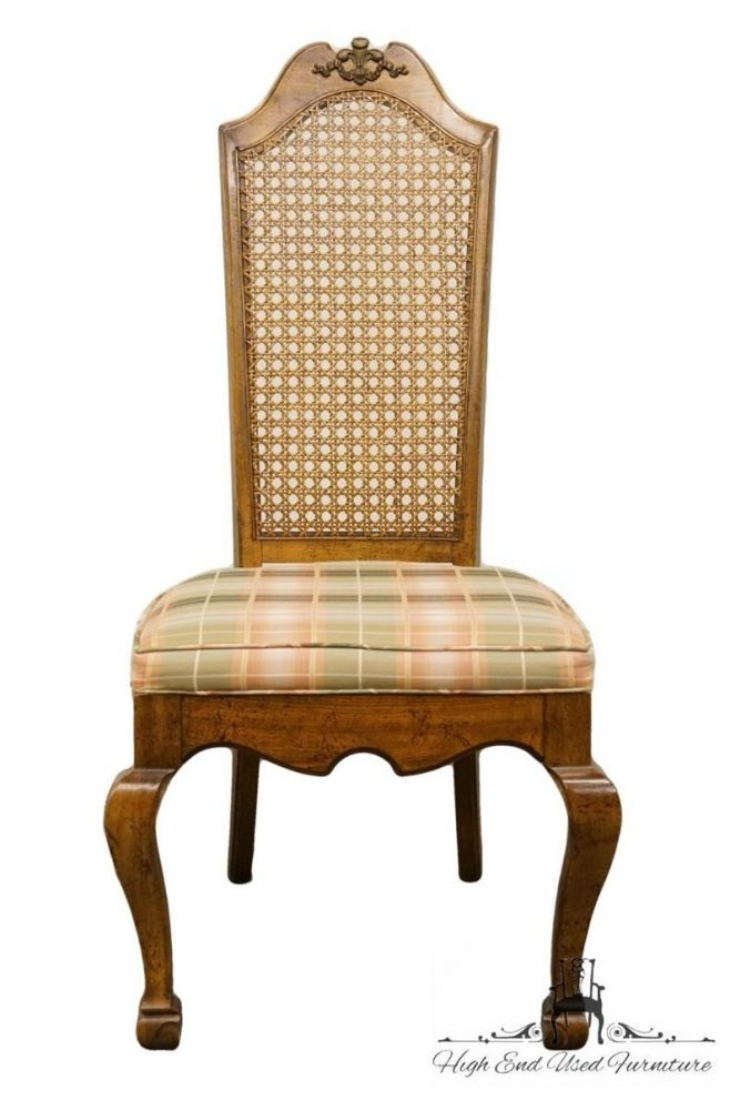 american of martinsville european old world style cane back dining side chair 2495 535