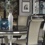 amini hollywood swank round table dining collection unique