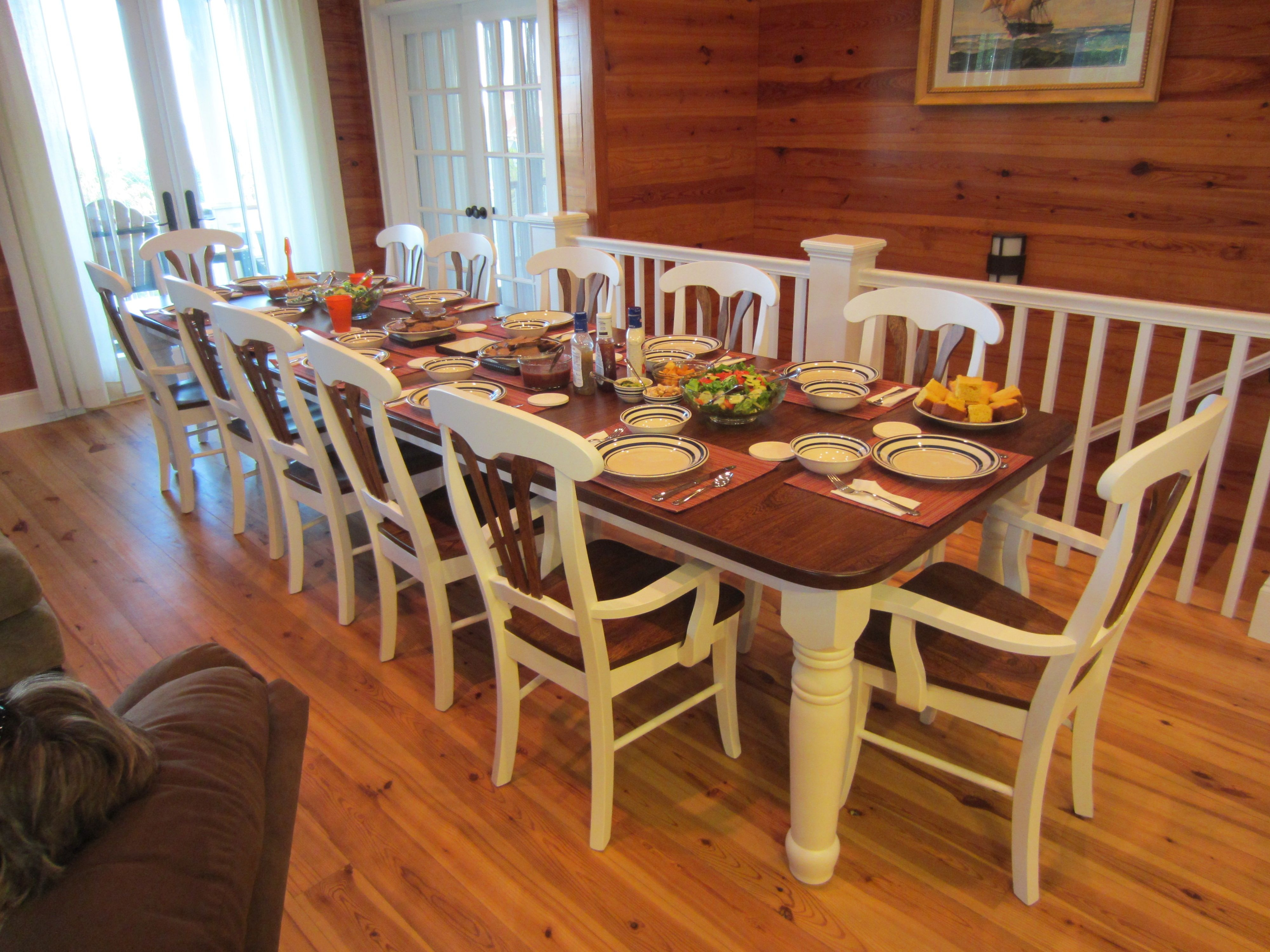 amish wood dinng table and chairs seats 10 google search dream