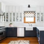 an airy bohemian home in seattle rue kitchen cabinet