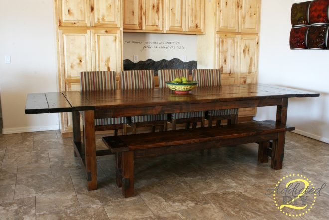 ana white diy farmhouse table with extensions diy projects